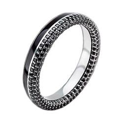 Мужское золотое обручальное кольцо Вдохновленные друг другом с бриллиантами и эмалью 000015961