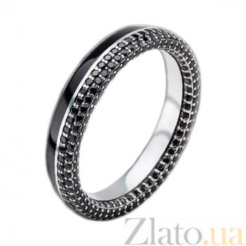 Мужское золотое обручальное кольцо Вдохновленные друг другом с бриллиантами и эмалью PRT--WR086M