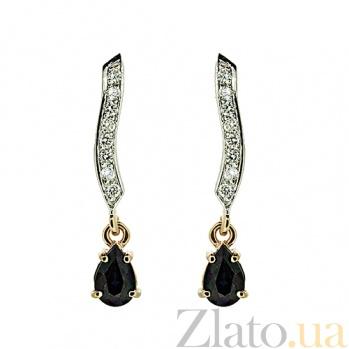 Золотые серьги с бриллиантами и сапфирами Тея ZMX--EDS-6864_K