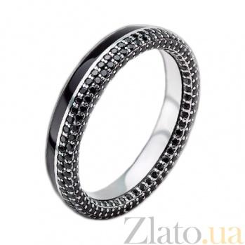 Мужское золотое обручальное кольцо Вдохновленные друг другом с бриллиантами и эмалью PRT--R-PTZ-W-233bd