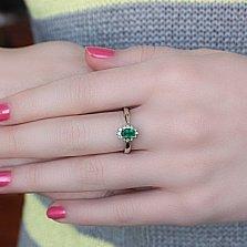Серебряное кольцо Мирабель с агатом и фианитами