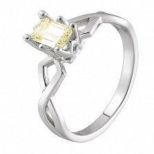 Кольцо в белом золоте Артемида с бриллиантом Fensi