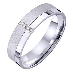 Золотое обручальное кольцо Совершенная любовь в белом цвете с бриллиантами