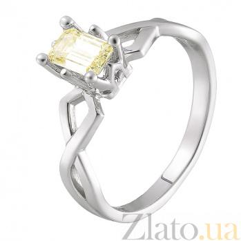 Кольцо в белом золоте Артемида с бриллиантом 000079334