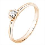 Помолвочное кольцо Чувство в красном золоте с бриллиантом