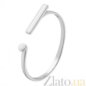 Золотое кольцо Восклицательный знак в белом цвете 000032630