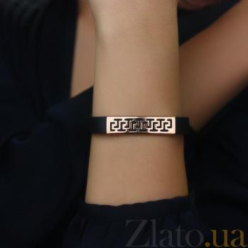 Золотой браслет с каучуком Калисто 000047047