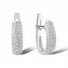 Серьги из белого золота Светлана с бриллиантами