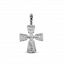 Серебряный крестик Благодарение