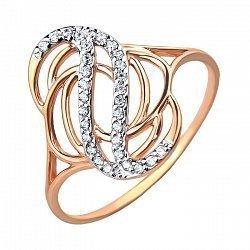 Золотое кольцо с фианитами 000103767