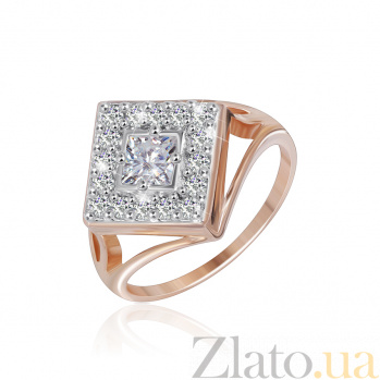 Кольцо из серебра с позолотой и фианитами Ксантия 000025443