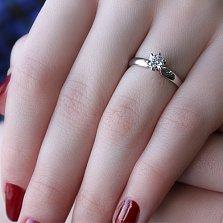 Кольцо из белого золота Чувственное признание с бриллиантом