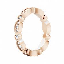 Обручальное кольцо из розового золота Так задумано свыше