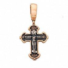 Крестик из красного золота Агнец Божий