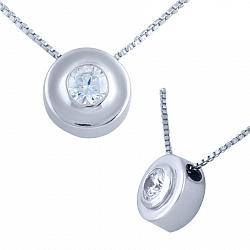 Серебряное колье Фанни с цирконием 000077423