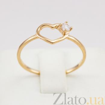 Золотое кольцо с фианитом Sweet love VLN--212-1689