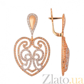 Сережки из красного золота Валентина VLT--ТТТ2357-2