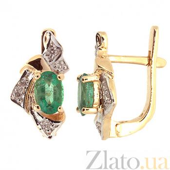 Серьги из красного золота с изумрудами и бриллиантами Рокайль ZMX--BLE-1045_K