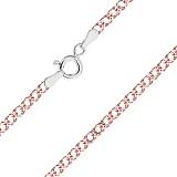 Серебряная цепь Блюз с позолотой, 55 см