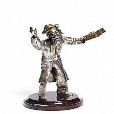 Серебряная статуэтка Старик с книгой