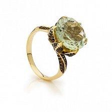 Золотое кольцо с кварцем Бриджит