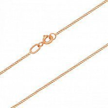Золотая цепочка Классический панцирь в красном цвете, 1мм