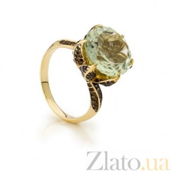 Золотое кольцо с кварцем Бриджит 000030647