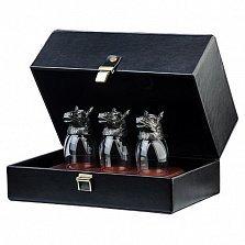 Подарочный набор серебряных стопок (ритонов)