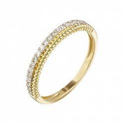 Кольцо из желтого золота с бриллиантами 000080986