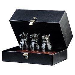 Подарочный набор серебряных стопок (ритонов)  000033692