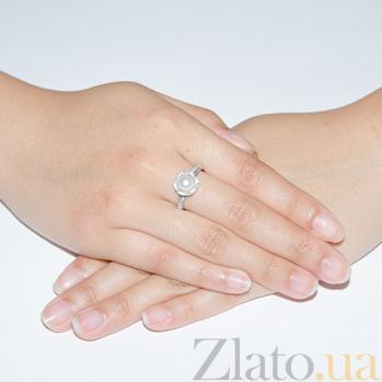 Серебряное кольцо Росток с жемчугом 1777/9р б жем