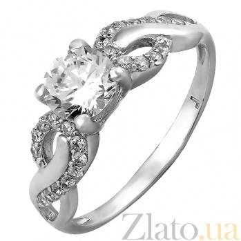 Серебряное кольцо с фианитами Лакшери 000029166