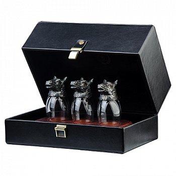 Подарунковий набір срібних чарок (ритонов) 000033692