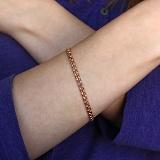 Золотой браслет Бисмарк 4мм