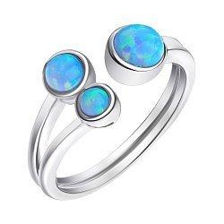 Серебряное кольцо с опалами 000139595