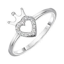 Серебряное кольцо с фианитами 000144873