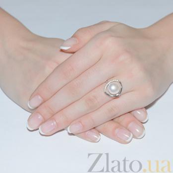 Кольцо Адамант в белом золоте SVA--1190483102/Жемчуг
