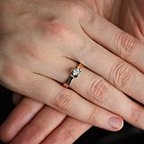 Золотое кольцо с бриллиантом Весна