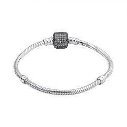 Серебряный браслет для шармов с фианитами 000132364