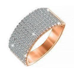 Серебряное кольцо с позолотой и фианитами 000052263