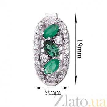 Серебряные серьги Лолита с зеленым агатом 2068/9р зел агат