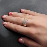 Золотое кольцо с цирконами Аланнис