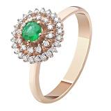 Кольцо из красного золота с изумрудом Галатея