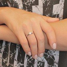 Серебряное кольцо Джулия с кристаллом Swarovski