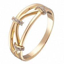 Кольцо в желтом и белом золоте Мириам с фианитами