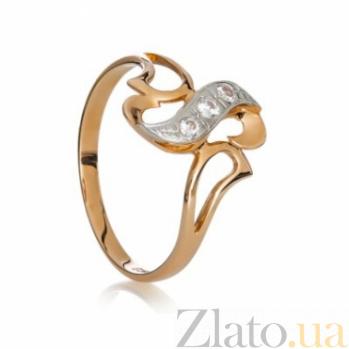 Золотое кольцо с цирконием Метелица 000030591