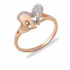 Кольцо Моей половинке из красного золота с бриллиантами