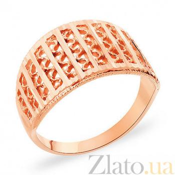 Кольцо из красного золота Филигрань SUF--153464