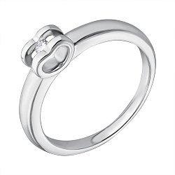 Серебряное кольцо с бриллиантом 000051201