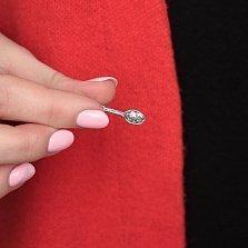 Миниатюрный серебряный сувенир Ложка-загребушка с чернением